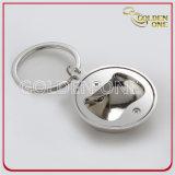 Anello chiave del metallo di figura di gioco del calcio di modo con l'apri di bottiglia