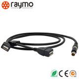 Het Mannetje van uitstekende kwaliteit aan Schakelaar van de Kabel van het Metaal USB de Cirkel