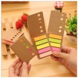 Papéis Kraft Paper Sticky Notes, Classic Tab Note Pad