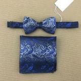 Jacquard de seda quadrado tecido do bolso do laço de curva
