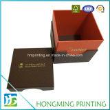 Boîte-cadeau de empaquetage cosmétique gravée en relief par logo de luxe