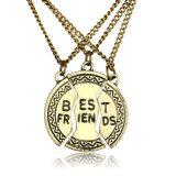 Promotie Juwelen - de Bevroren Gebroken Halsband van de Tegenhanger van het Embleem van de Halsband van de Vrienden van het Hart Beste Gespleten Epoxy
