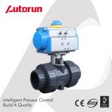 Wenzhou 중국 공급자 확실한 조합은 PVC 압축 공기를 넣은 공 벨브를 끝낸다