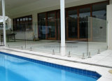 Espita de cristal de Rould del acero inoxidable con el borde para el cercado de la piscina