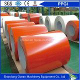Bobinas del acero de la bobina/PPGI/hoja de acero galvanizadas prepintadas del material para techos