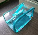 Bolsas cosméticas da caixa dos arti'culos de tocador do curso feito sob encomenda da beleza do PVC da cópia