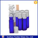 유리 또는 플라스틱 스테인리스 롤러 공을%s 가진 파란 유리병에 10ml 롤