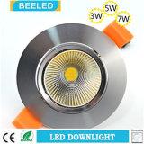 Anuncio publicitario blanco caliente ahuecado Downlight especular del proyecto de 5W Dimmable LED