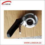 Válvula de borboleta apertada sanitária do aço inoxidável com punho do disparador