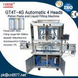 Goma automática del pistón de 4 pistas y máquina de rellenar del líquido para el jugo (GT4T-4G)