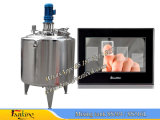 500L agua caliente Heatinbg mezcla de tanque con refrigeración chaqueta