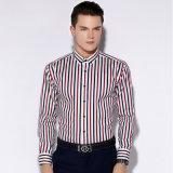 Camice di vestito convenzionale lunghe da affari del manicotto di colore Puro-Giallo del cotone della saia