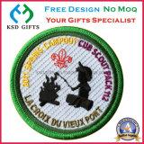 Emblema de vestuário bordado 100% de qualidade superior / Patch de tecido