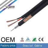 Câble coaxial de liaison de pouvoir à grande vitesse de la télévision en circuit fermé Rg59+2c de Sipu pour la TV