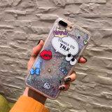 iPhone 6sのための液体の砂の漫画プリントセルまたは携帯電話のケース