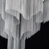 Candelabro Chain de alumínio do Tassel que leve luzes modernas de /Suspension/Drop/Hanging do pendente do corredor