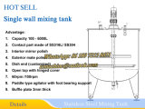 Niet-Geïsoleerd roestvrij staal het Mengen van Tank 500L die Tank mengt