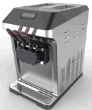 Machine de crème glacée souple de table / Machine de yaourt glacée la plus vendue / Crémaillère