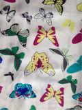 Stampa di seta di Habotai in farfalla Desgin