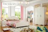 純粋で白い木の家具の国様式の現代寝室セット(A101)