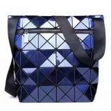 Blauer PUrhombischer geometrischer Hasp-Unisexhandbeutel (M005-3)