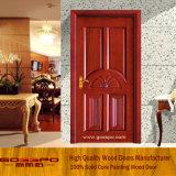 La plus défunte porte de chambre à coucher en bois solide de noix de modèle (GSP2-033)