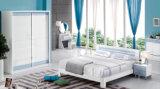 Doppeltes Luxuxbett 2017 eingestellt für Schlafzimmer-Möbel