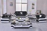 커피용 탁자 검정 백색을%s 가진 거실 가죽 가구를 위한 현대 소파