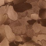 Cuir artificiel estampé par irrégularité à la mode de PVC d'unité centrale de fleur de qualité pour décoratif