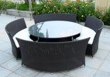 Mobília do hotel do Rattan/mesa redonda/mesa redonda com quatro cadeiras (SC-B8917)