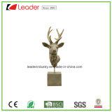 Новая головка оленей Polyresin с низкопробной скульптурой для украшения дома и таблицы