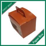 손잡이를 가진 골판지 상자