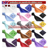 Jeux rouges en soie de relation étroite de boutons de manchette de mouchoir de relation étroite de cravates de jeux de relation étroite noire de relations étroites de Mens (B8052)