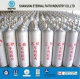 40L sin fisuras del cilindro de gas acetileno