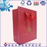 ロゴプリント卸売が付いているカスタム贅沢なペーパーショッピングギフト袋
