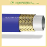 Le fil d'acier a tressé le boyau hydraulique couvert par caoutchouc renforcé (SAE100 R1-1 '')