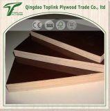el panel laminado cubierto película de la base de la madera dura de 18m m, 915X1830X18m m