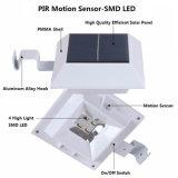 4 Licht van de Lamp van de Omheining van de Goot van het Dak van de Sensor van de LEIDENE het Vierkante Zonne van de Lamp Pir- Motie Zonne Lichte Openlucht Zonne