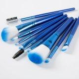 10 Blue PCS Léger de haute qualité pinceau de maquillage
