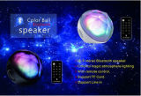 Haut-parleur sans fil portatif d'ordinateur de Bluetooth d'éclairages LED avec à télécommande