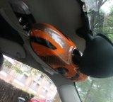 Couverture intérieure protégée UV matérielle de miroir de 2014 derniers de Mini Cooper des syndicats de Jack ABS oranges de type pour Mini Cooper F56 (1 PCS/Set)