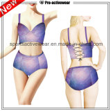 OEM 2016년 직물 숙녀 섹시한 V 모양 한 조각 Swimwears