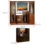 木の寝室の家具はセットするMDFの衣服の吊り戸棚のワードローブ(HX-LC2038)を
