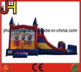 Karikatur-Thema-großes aufblasbares Günstling-Schlag-Schloss-kombiniertes Wasser-Plättchen