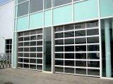 폴리탄산염 온실 연약한 PVC 부분적인 투명한 유리제 차고 문 (Hz TD06)