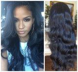 da onda brasileira do corpo do cabelo do Virgin da classe 7A peruca cheia do laço/peruca dianteira do laço