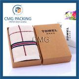 Branco e caixas de presente da caixa de toalhas das cores de Brown dois