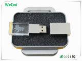 Movimentação de cristal de venda quente do flash do USB com garantia de 1 ano (WY-D25)