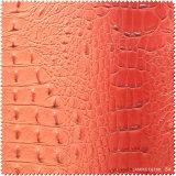 Geprägtes Pringting PUledernes Faux-Leder für Schuhe, Beutel (BD004070)