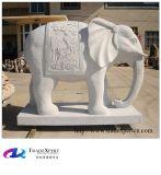 Granit-Statue Hand-Geschnitzte Tierelefant-Skulpturen